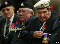 Veterans at Remembrance Day ceremony