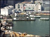 Star Ferry terminal, Hong Kong harbour