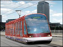 Artist's impression of tram