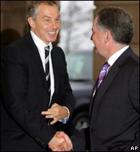 Tony Blair with Jack McConnell