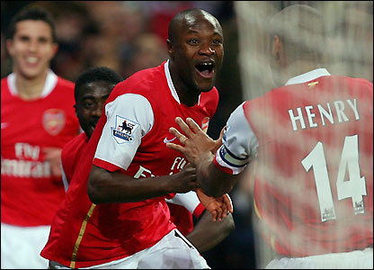 William Gallas celebrates