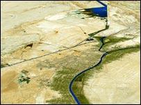 Satellite image of Basra