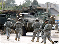 US troops on patrol in Baghdad