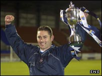 Ross County boss Scott Leitch with the Challenge Cup