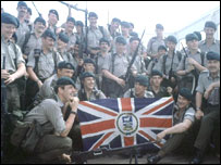 British soldiers troops preparing to leave for the Falkland Islands in 1982