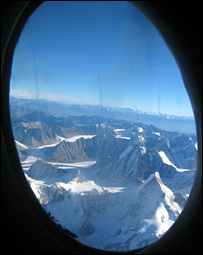 View of mountains on way to Siachen