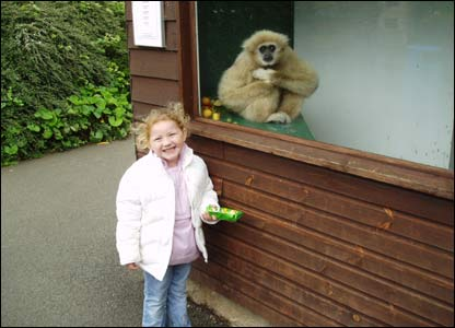 Simon Tierney's daughter Anya-Jade at the Welsh Mountain Zoo in Colwyn Bay