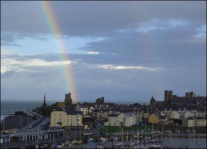 A rainbow showing that there may be gold buried at Aberystwyth Castle (Dele Bucknor)
