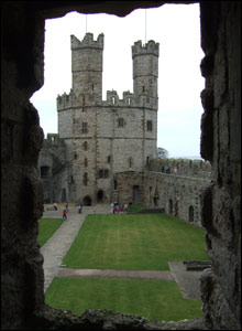 Caernarfon Castle, as taken by Vicky Barnes of Churchstoke, Powys