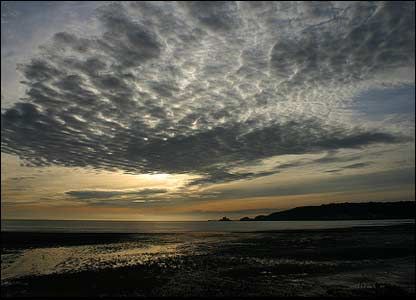 Dawn over Mumbles, sent by Jim Young