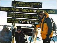 Andrew Wilkinson on Kilimanjaro
