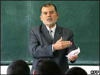 Muhammad Shbeir teaching at the Islamic University in Gaza