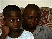 Alieu Kargbo and his son Idriss