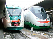 Italian trains (image courtesy Trenitalia)