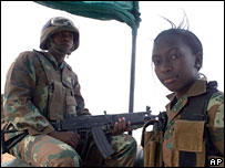 African Union peacekeepers in Darfur