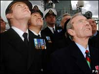 Falklands veterans on HMS Illustrious launch the 25th anniversary events in London