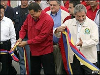 Hugo Chávez y Luis Inacio Lula da Silva.