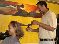 Hairdresser Tadiwos Belete