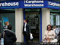 A Carphone Warehouse shop
