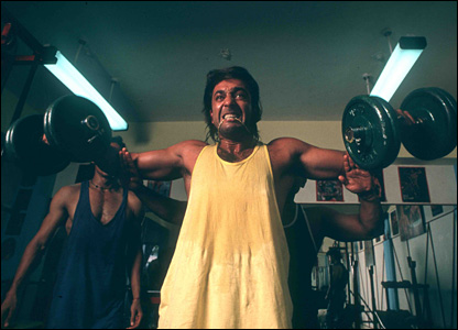 Bbc news in pictures in pictures sanjay dutt sanjay dutt working out in his gym after his release thecheapjerseys Images