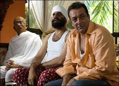 Sanjay Dutt on the sets of Lage Raho Munnabhai, his 2006 hit