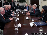 President Bush meets the Iraq Study Group