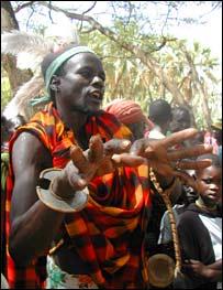 Man wearing ceremonial robes (Image: BBC)