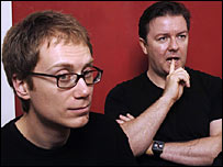 Stephen Merchant and Ricky Gervais