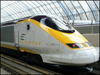 Eurostar train - pic supplied by Eurostar