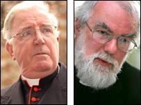 Cardinal Cormac Murphy O'Connor and Dr Rowan Williams