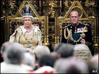 La reina Isabel II y el pr�ncipe Felipe