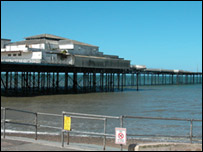 The Victorian pier at Colwyn Bay
