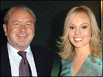 Sir Alan Sugar and his apprentice Michelle Dewberry