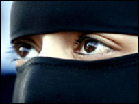 Veiled Muslim woman (file image)