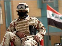 An Iraqi police commando (file pic)