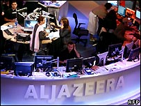 Doha, Qatar newsroom of al-Jazeera International