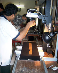 Indian manuscripts being restored