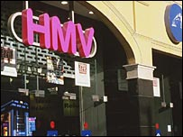 HMV's shop in Piccadilly Circus, London