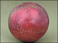 The ball being sold at auction