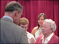 The prince meets Sybil Griffiths