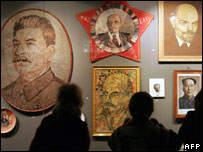 Portraits of Soviet leaders