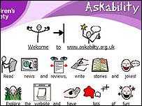 Screen shot of the askability website