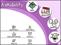 Screen shot of the askability website