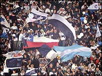 Fans of Gimnasia in Argentina