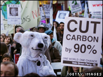 Climate change rally in central London (Image: Getty)
