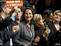 Segolene Royal at a campaign rally
