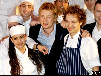 Jamie Oliver and his crew from Fifteen