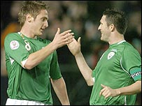 Kevin Doyle and Robbie Keane