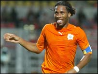 The Ivory Coast's Didier Drogba