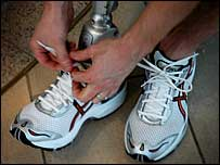Doing up laces